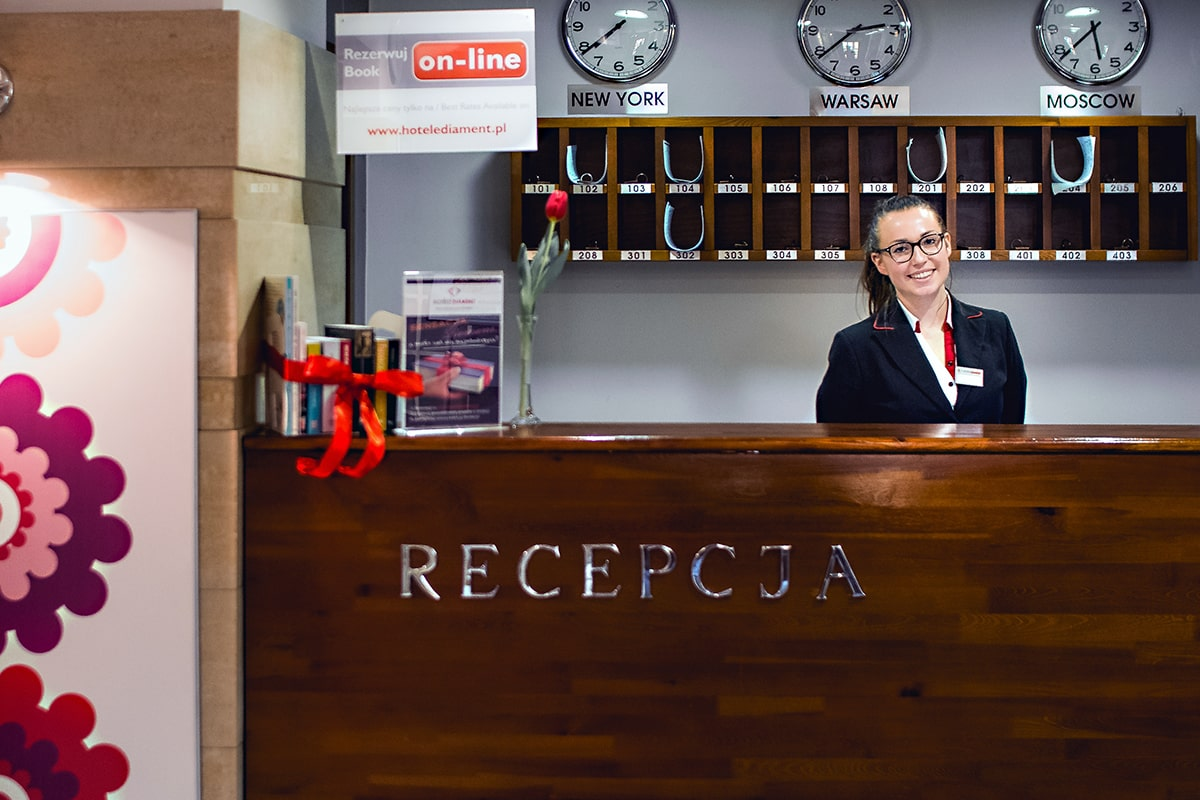 Hotel Diament Economy Gliwice - recepcja