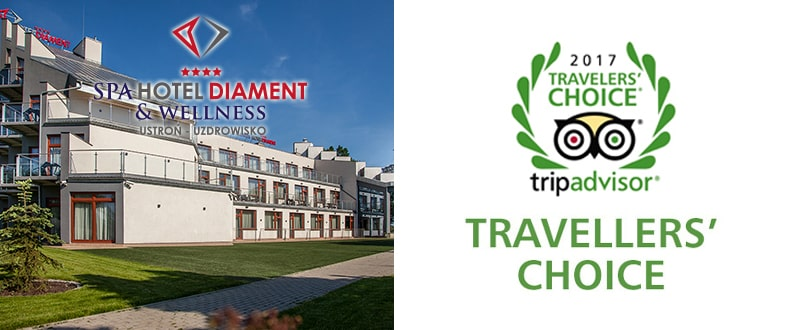 TripAdvisor Traveler's Choice 2017 - Spa Hotel Diament & Wellness Ustroń