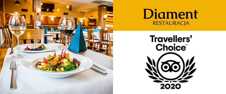 TripAdvisor Traveler's Choice 2020 - Restauracja Diament, Park Hotel Diament Zabrze
