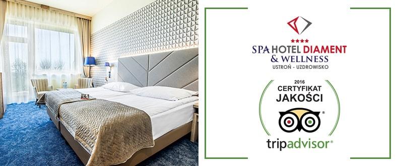 Certyfikat jakości tripadvisor Spa Hotel Diament & Wellness Ustroń