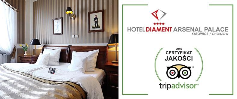 Certyfikat jakości tripadvisor Hotel Diament Arsenal Palace