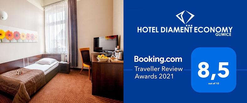 Traveller Review Award 2021 - Hotel Diament Economy Gliwice
