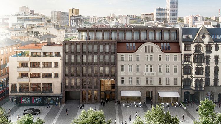 Rozbudowa Czterogwiazdkowego Hotelu Diament Plaza Katowice Trwa. Zobacz Najnowsze Wizualizacje!
